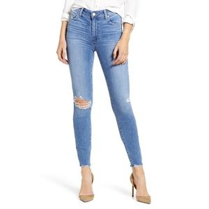 Paige Hoxton Distressed Ankle Skinny Jeans Size 33